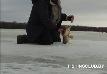 Зимняя рыбалка на малой реке